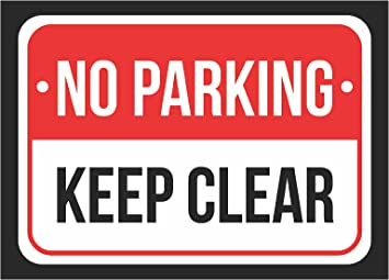 Private Parking Sign Keep Clear Personalised No Parking Waterproof Metal Sign