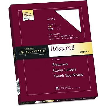 Southworth 100 Cotton Resume Paper 85 X 11 24 Lb