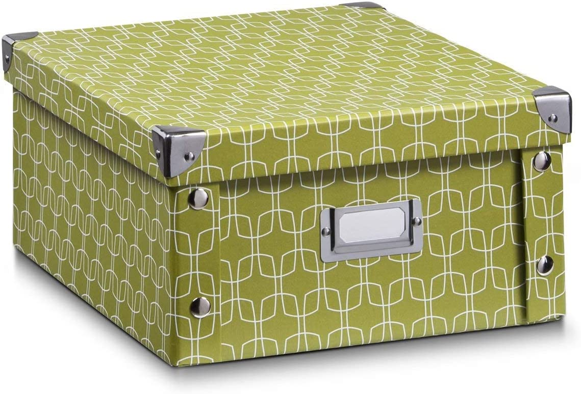 Dekor Zeller 17571 Aufbewahrungsbox Blue Stripes ca Pappe 21,5 x 20,5 x 15 cm