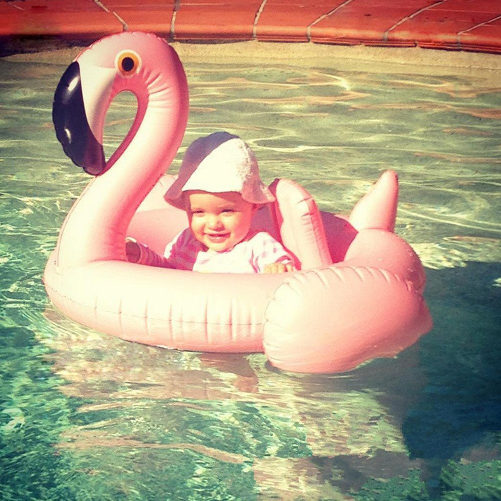 Mystery/&Melody Baby Flamingo Pool Float Flamingo Inflatable Rafts Swim Ring Swimming Pool Toys for Baby Kids