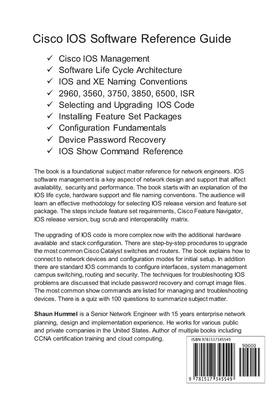 Buy Cisco Ios Software Reference Guide: Install, Upgrade and