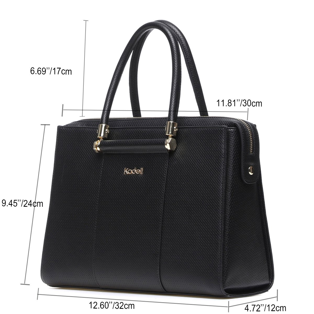 aa4dc25d2b1ffa Kadell Women Luxury Leather Designer Handbags Top Handle Purse for Ladies  Shoulder Bag Black: Handbags: Amazon.com