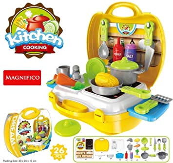 Buy Magnifico 26 Pieces Kitchen Set Pretend Play Toys For Girls