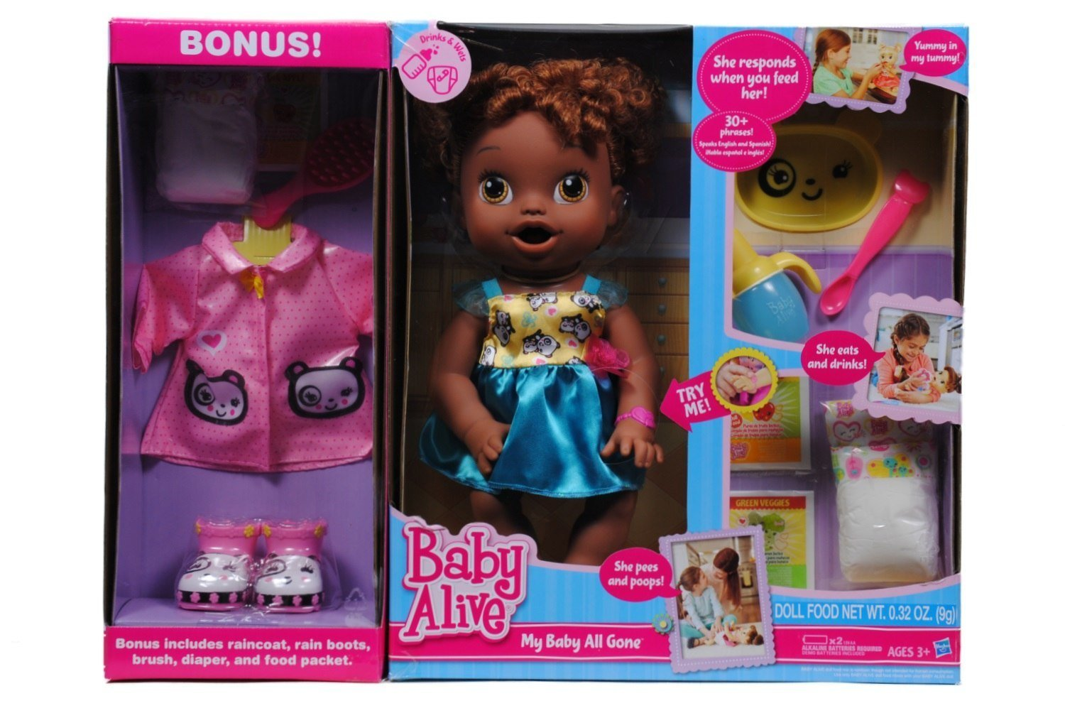 Amazon Com Baby Alive My Baby All Gone African American Doll With