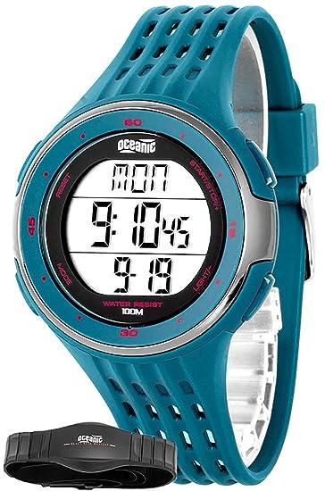 Unisex Oceanic Entrenamiento de reloj de pulsera con correa de pecho pulsómetro + wr100 m,