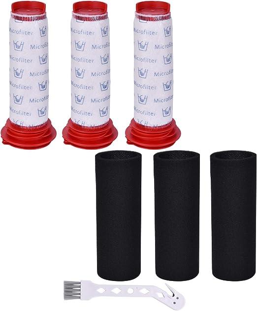 Leadaybetter - 3 filtros Lavables para aspiradora Bosch BCH6L2560 ...