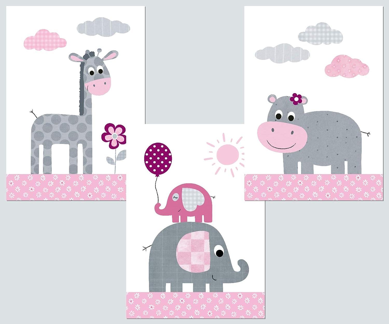 Lalelu-Prints Kinderzimmer Poster 3er Set DIN A4 I ...