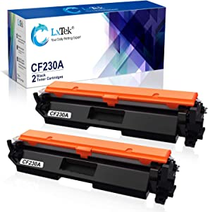 LxTek Compatible Toner Cartridge Replacement for HP 30A CF230A 30X CF230X to use with Laserjet Pro MFP M203dw M227fdw M227fdn M203d M203dn M227sdn M227 M203Printer (Black, 2-Pack)