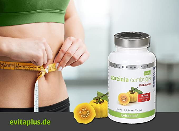 Garcinia cambogia DAILY para complementar una dieta para adelgazar – 120 capsulas – 1.800 mg diario – Producto vegetal
