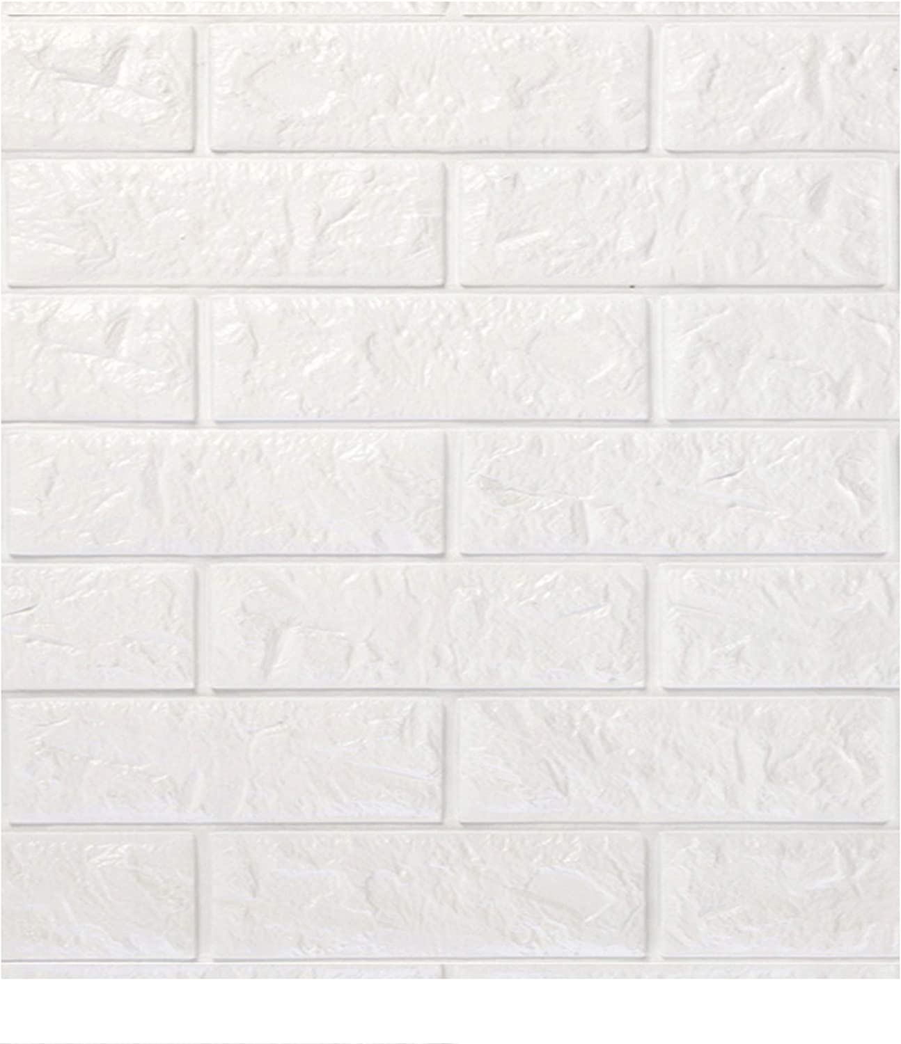 Brick Rock Brown DecoMe 23.6x23.6x0.4 inch Faux PE Foam Real Ricks Effect Textured 3D Wall Panels Sticker Self Adhesive Peel and Stick Panels for Home Decoration Pack of 10 Pieces
