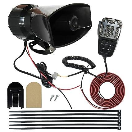 amazon com mirkoo 12v 100w 7 tones car siren speaker with mic pa cb mic wiring diagrams mirkoo 12v 100w 7 tones car siren speaker with mic pa system car loud emergency sound