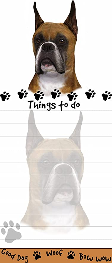 SCHNAUZER DOG DIECUT LIST PAD NOTES NOTEPAD Magnetic Magnet Refrigerator