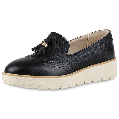 napoli-fashion - Mocasines Mujer, Color Negro, Talla 38 EU: Amazon.es: Zapatos y complementos
