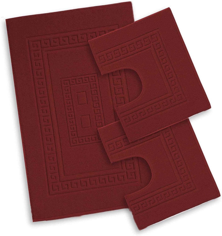Set 3 Pezzi Beige Centesimo Web Shop Tappeto Bagno in 4 Misure E 8 Colori Prodotto in Italia Misto Cotone SCENDIDOCCIA Classico