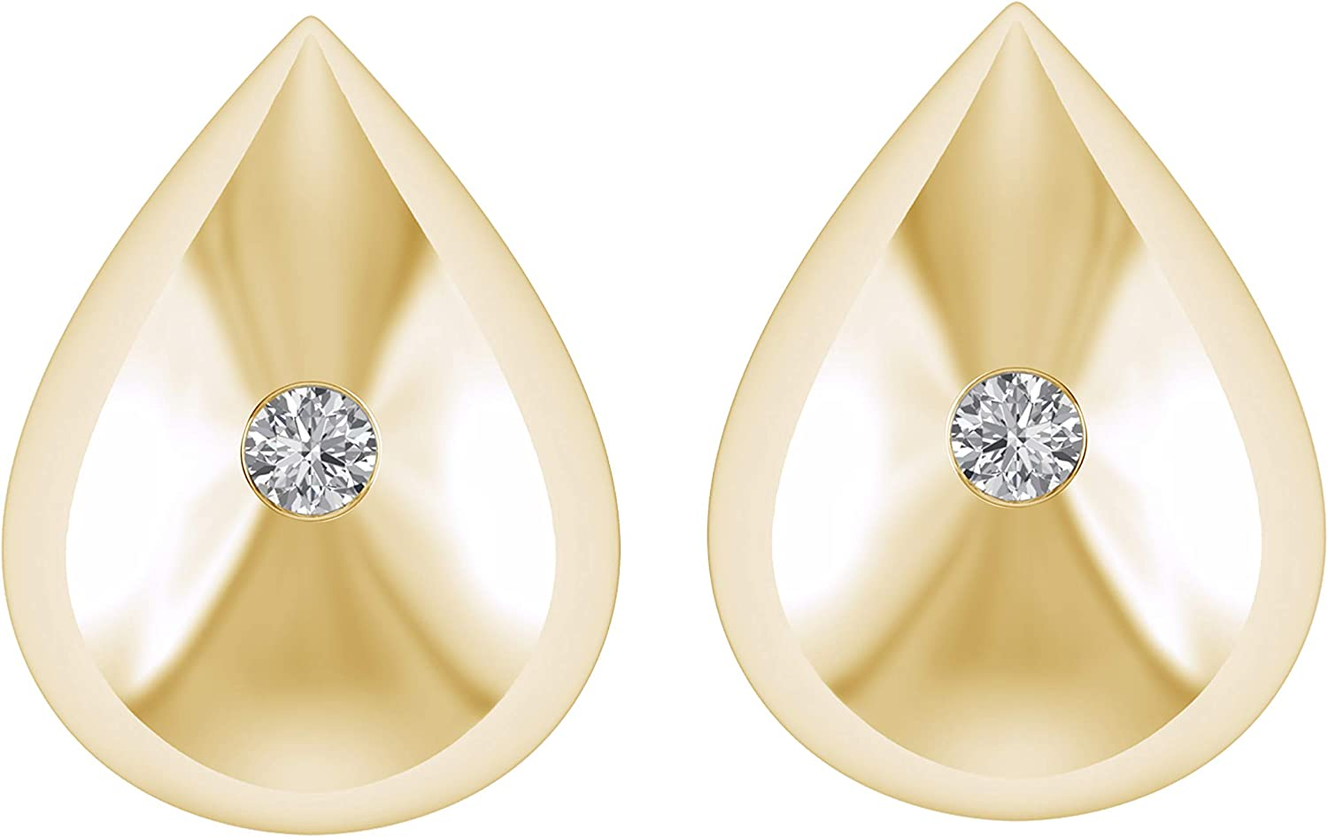 G-H Color, I1-I2 Clarity 925 Sterling Silver W// 0.12 Ct Natural Diamond Bow Tie Stud Earrings Sweet Gift For Girls