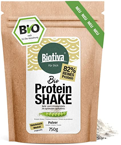 Vegan proteína Shake (bio), 750 g – 82% proteína – sin soja