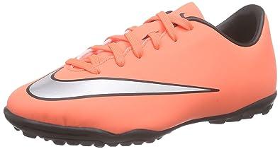 newest 629ea 3a815 Nike Unisex Kids Mercurial Victory V Tf Football Training Shoes, Orange  (Bright Mango