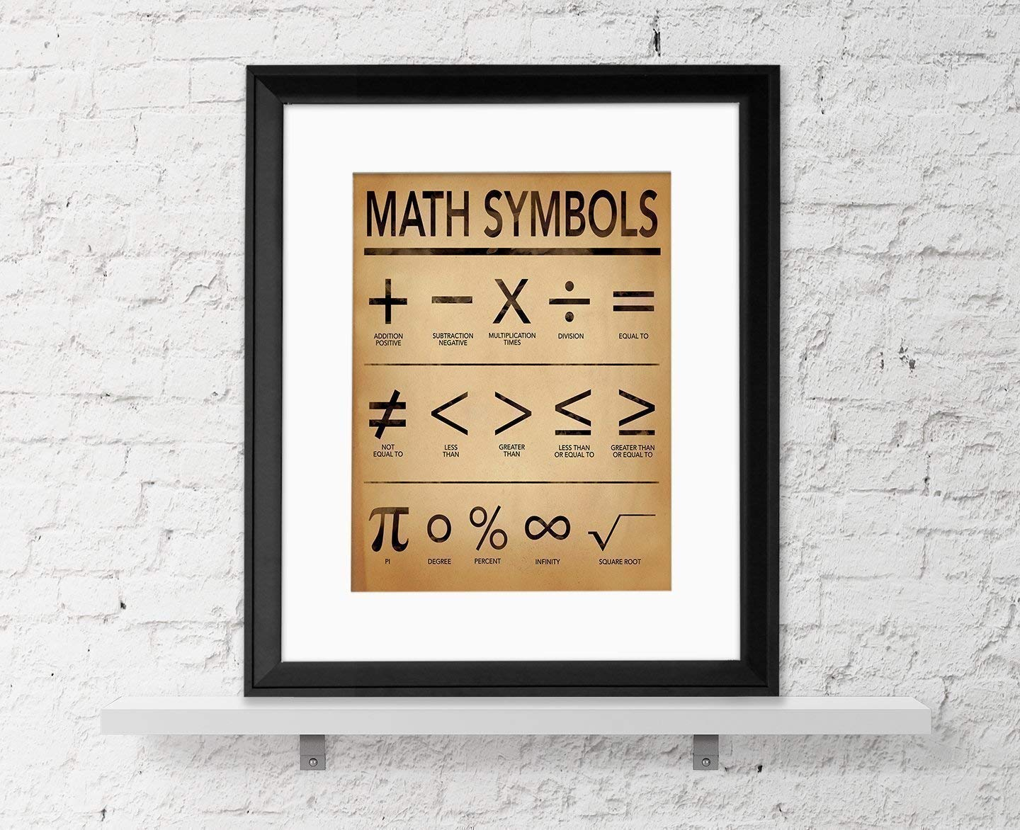 Amazon Math Symbols Fine Art Print For Home Office Or