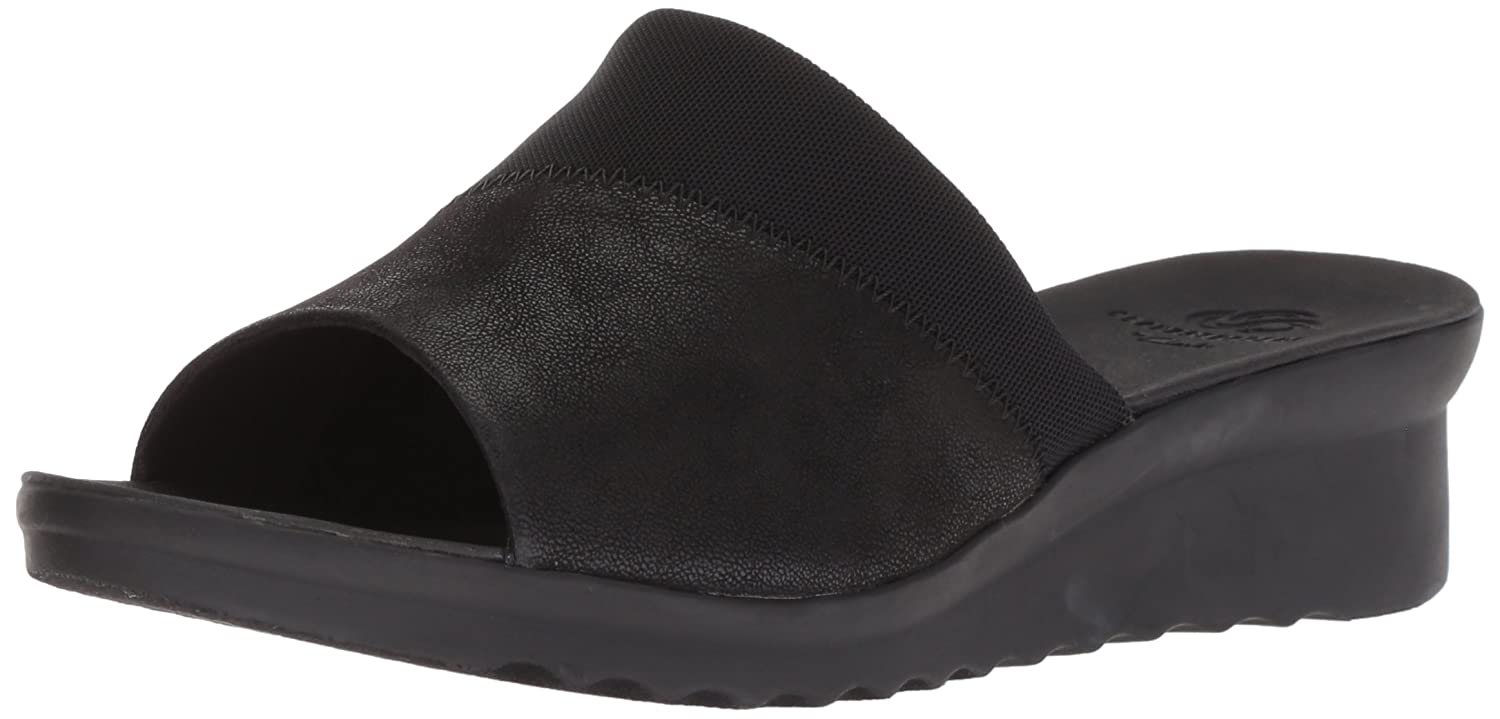 CLARKS Women's Caddell Ivy Slide Sandal B075KLZYYP 8.5 W US|Black Synthetic