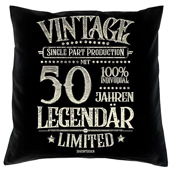 Soreso Diseño con 50 Años Legendär Set de Regalo - Cojín y ...