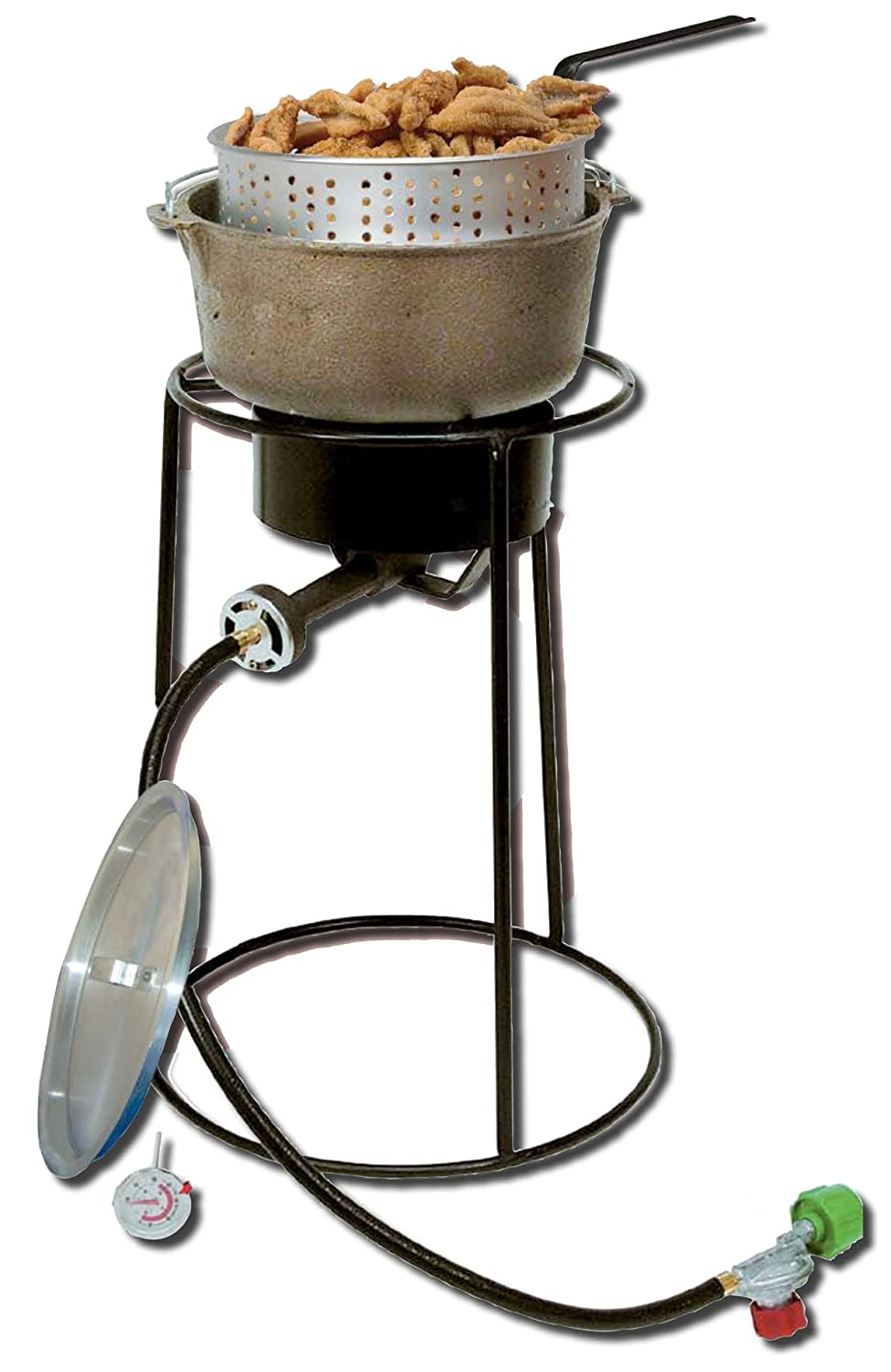 Amazon.com : King Kooker 22PKPTC 20 Inch Propane Outdoor Cooker With  6 Quart Cast Iron Pot : Outdoor Fry Pots : Garden U0026 Outdoor