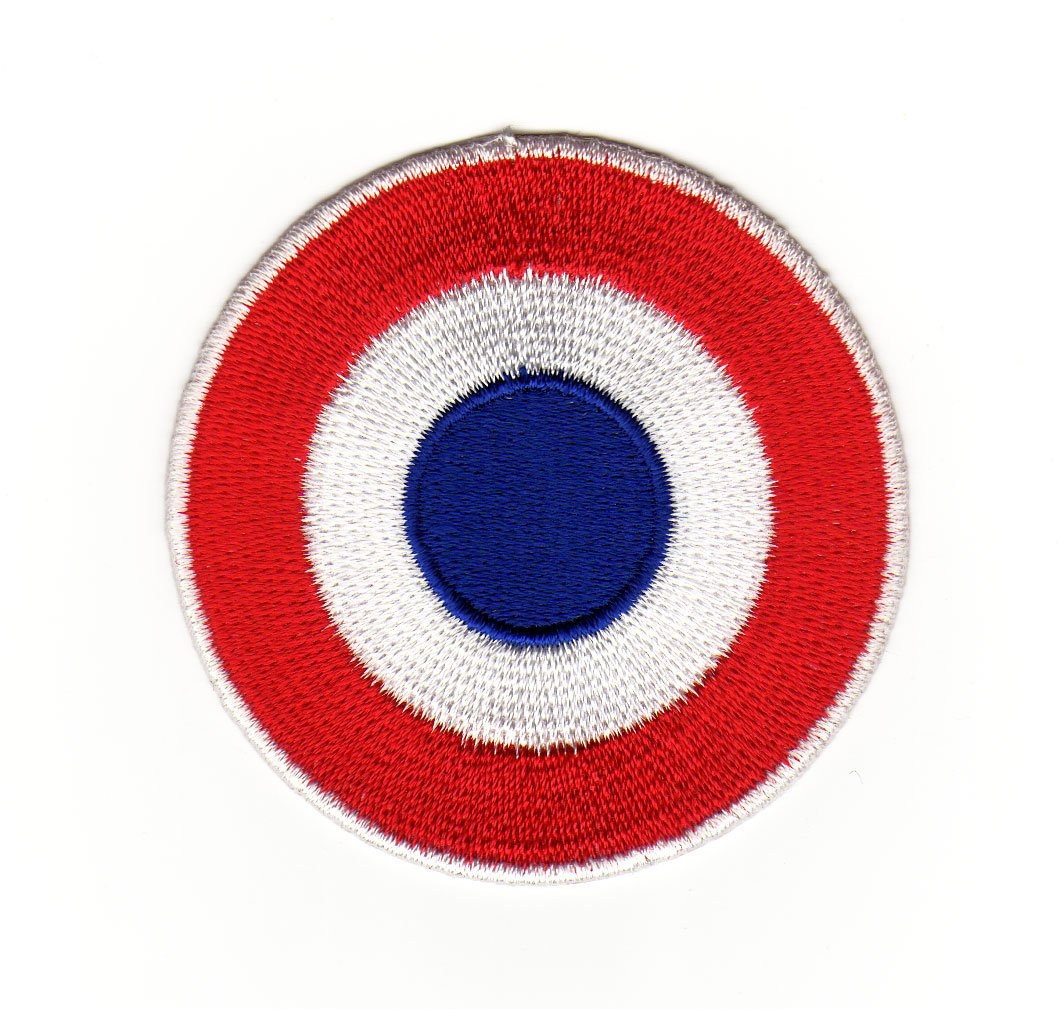 Target Bull's Eye Vespa Scooter Sew-On Badge / Iron-On Patch ca. 6.2 x 6.2 cm
