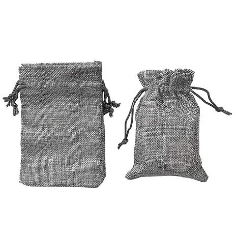 Amazon.com: BoomYou - Bolsas de yute con cordón, 25 unidades ...