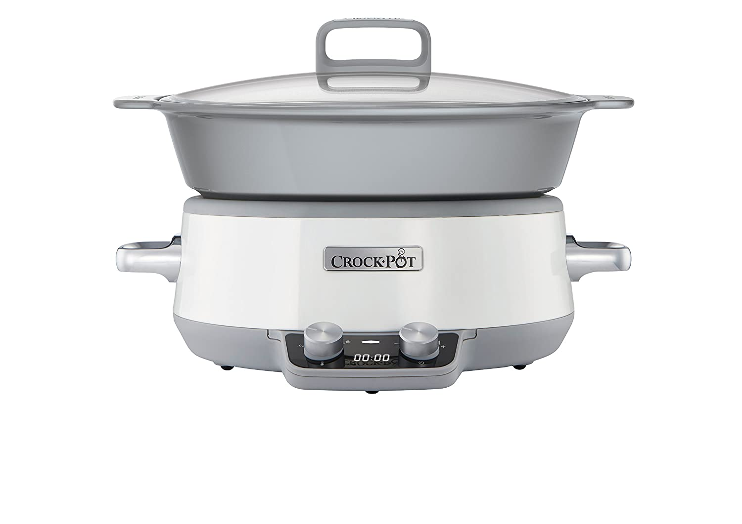 Crock Pot Duraceramic CSCX Olla de cocción lenta digital L color blanco