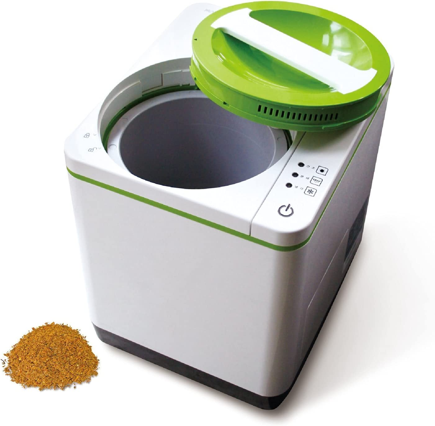 Food Cycler Indoor Kitchen Composter - Easy to Use and Environmentally with No Water, Chemicals, Venting or Draining Required + Spared Echo Filter 2 PCS + Simple English Quick Manual