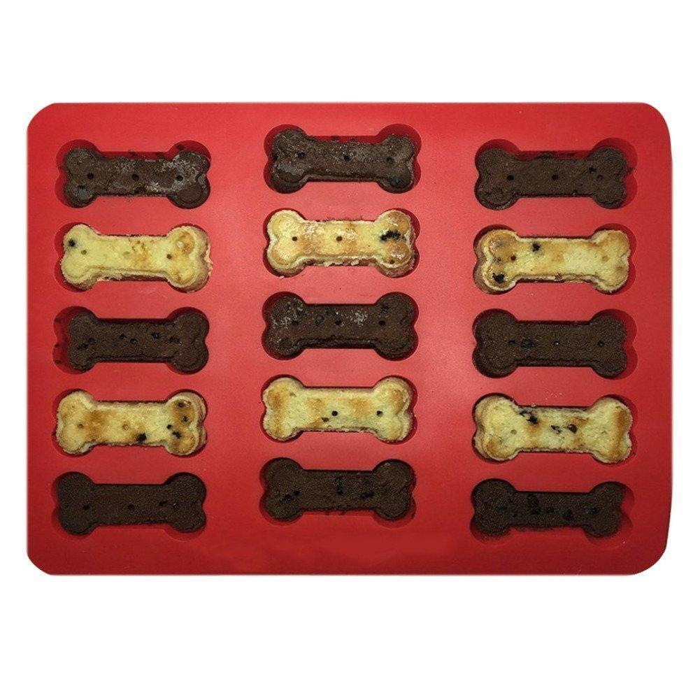 Baifeng 15-hole Bone OS de chien en silicone en forme Moule /à g/âteau Moule /à biscuits g/âteaux Moules Dentelle en silicone Couronne Fondant G/âteau Pochoir Traykitchen cuisson Bareware outils