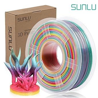 SUNLU PLA filamento arcoíris 3d impresora PLA carretes, filamento ...