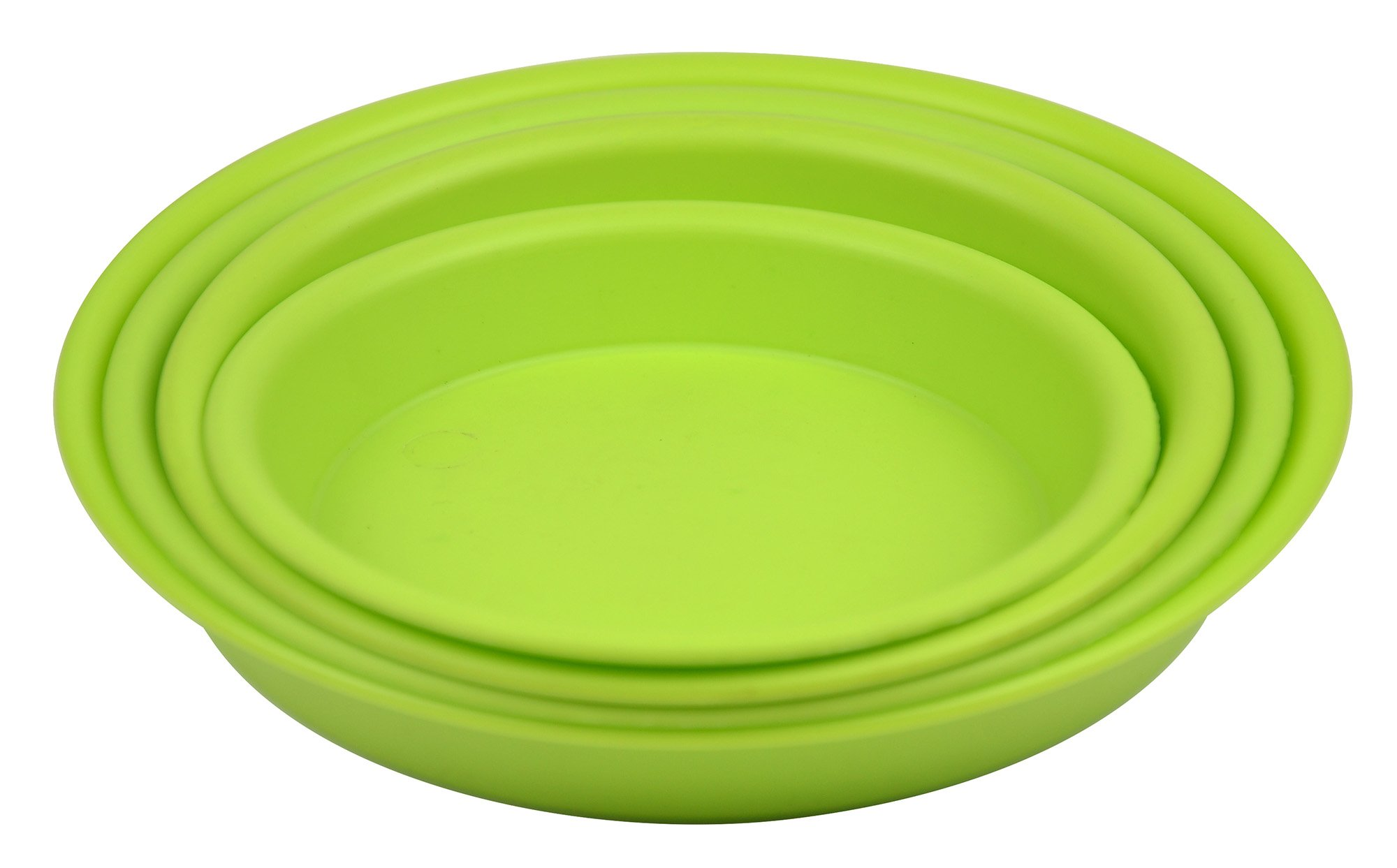 7.7'' Round Plant Saucer Planter Tray Pat Pallet for Flowerpot,Green,960 Count by Zhanwang