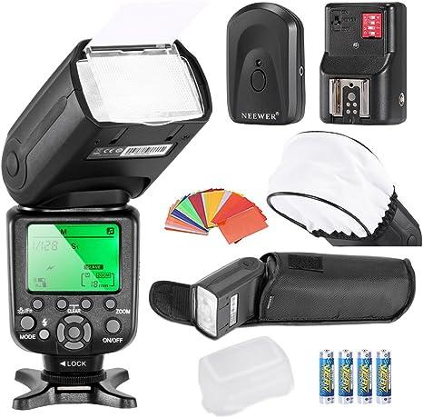 Neewer - Kit de flash para cámara Nikon D4S D4 D3S D800 D700 D80 ...