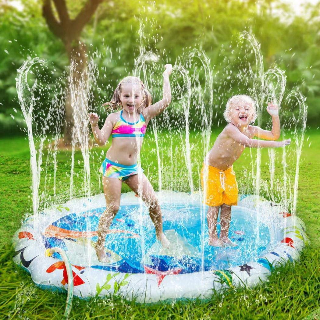 Yirind 67'' Inflatable Outdoor Sprinkler Pad Summer Water Pad Toys Swimming Party Gift for Kids Children by Yirind