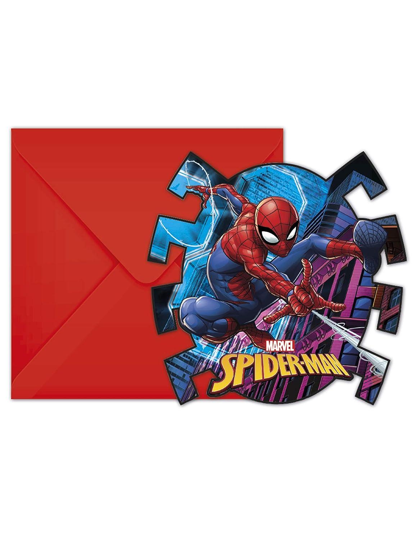 Procos Invitaciones con sobre Spiderman Team Up, Multicolor ...