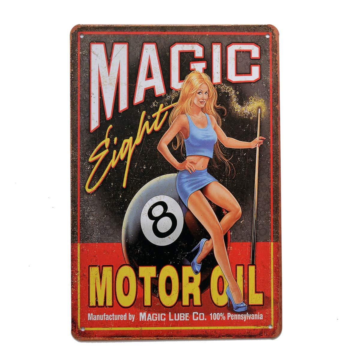 8/x 12//20/x 30/cm Decorazione da Parete per casa Garage Bar Man Cave Otto Olio per Motore pei di Retro Vintage Metal Sign Magic
