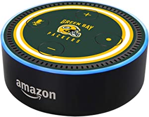 Head Case Designs Officially Licensed NFL Team Colour Helmet Green Bay Packers Matte Vinyl Sticker Skin Decal Cover Compatible with Amazon Echo Dot (2nd Gen)