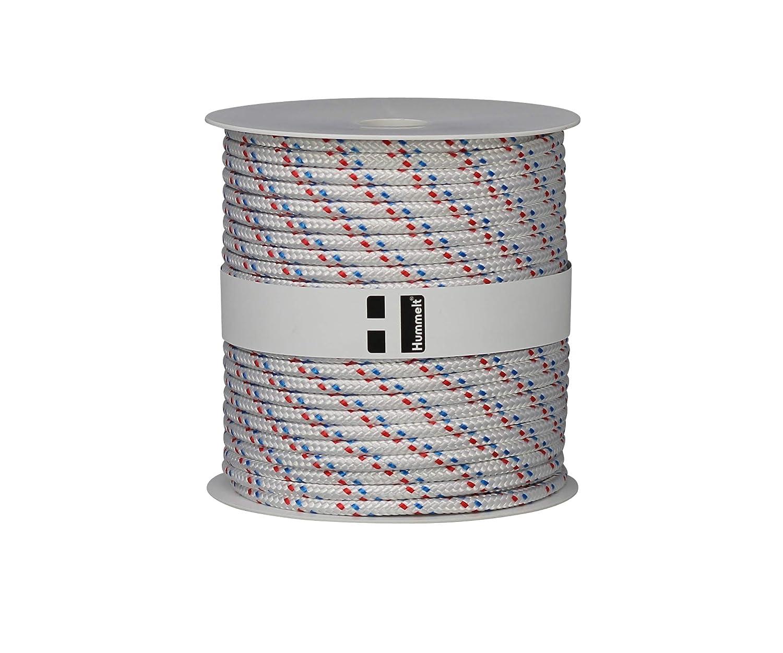 Hummelt/® SilverLine-Rope Schot Seil Polyesterseil 4mm 100m wei/ß//gr/ün auf Rolle