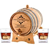 Personalized Oak Aging Barrel & Whiskey Glasses | Barrel Aged Limited Edition (5 Liters)