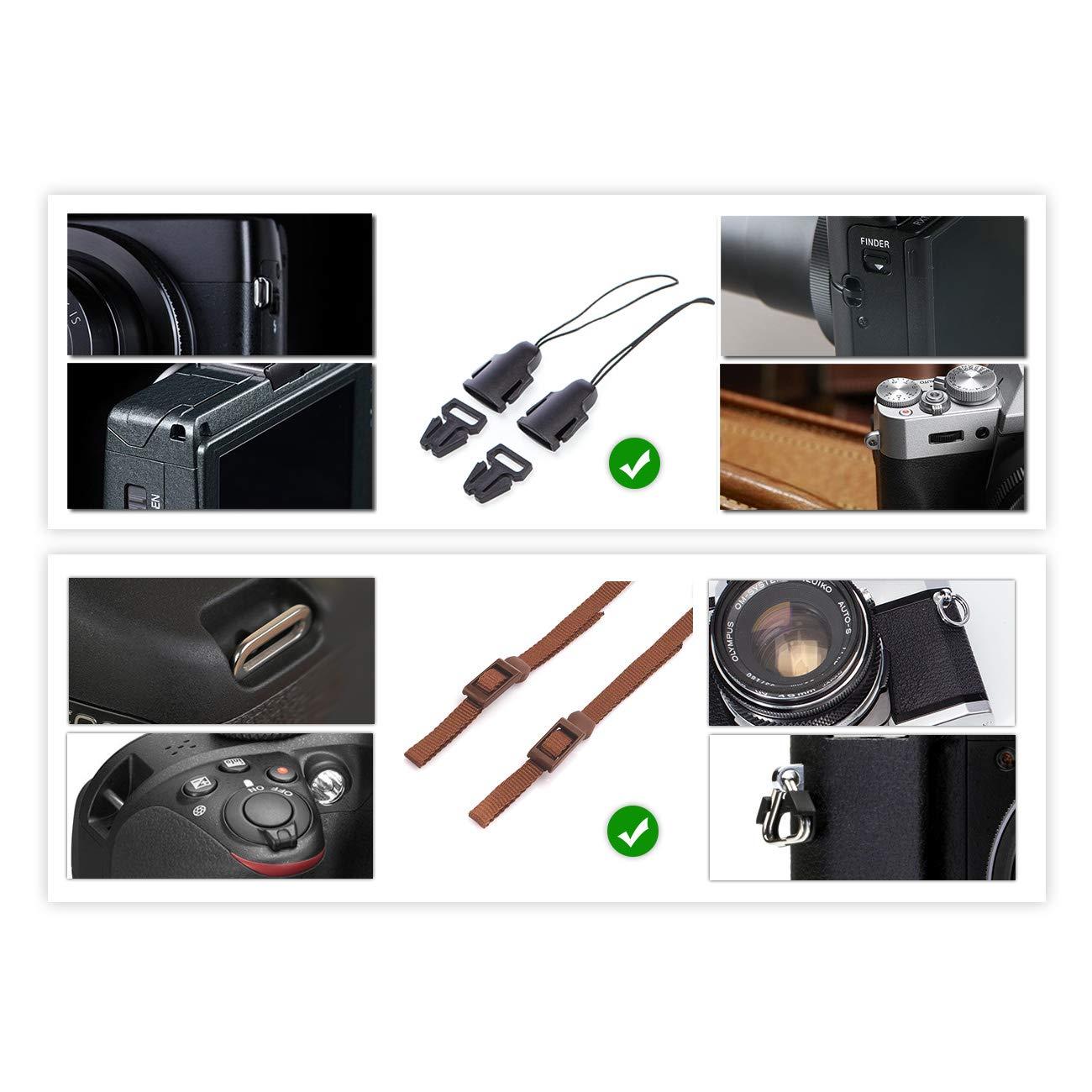 TARION Tracolla per Fotocamera Reflex con Fermaglio a Lancio Multiuso Colore Cachi Stile Vintage Qualit/à Buona Comodo e Sicuro Lunghezza Regolabile
