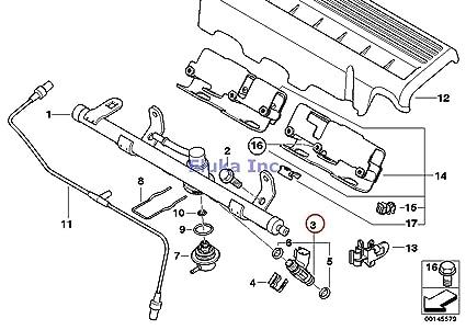 Amazon Com Mini Oem Fuel Injection Valve Injector R50 R52 13 53 1