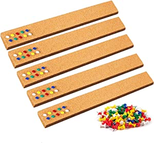 Cork Board Bulletin Boards for Walls, Cork Board Strips Memo Board Pin Boards for Walls, Cork Board Tiles with 80 Pcs Push Pins, Cork Bulletin Bar Strips for Home Decor Classroom (2 x 15 x 0.5 Inch)