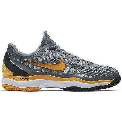 huge discount 28ac1 d725c Nike Zoom Cage 3 Mens Vast Grey Black White Volt Glow (7
