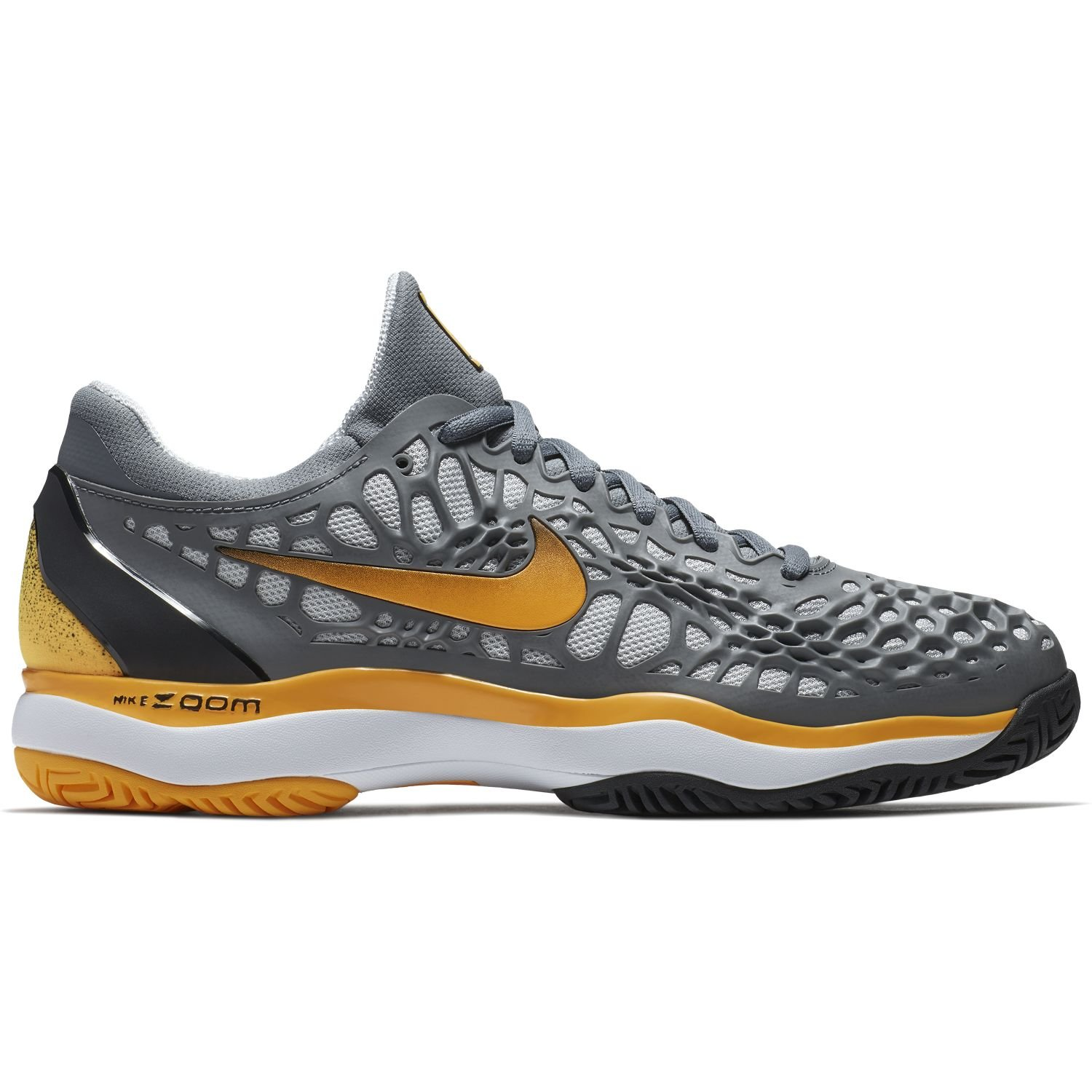 Nike Mens Zoom Cage 3 Tennis Shoes B0761Y9XXV 9.5 D(M) US|Cool Grey/Laser Orange/Black/White