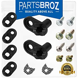 4318165 Door Closer Kit for Whirlpool Refrigerators by PartsBroz - Replaces AP3103517, 1104788, 1115905, 2155312, 2155313, 2182132, 2867, 4211257, 4318165VP, 978800, 986758, AH358690, EA358690
