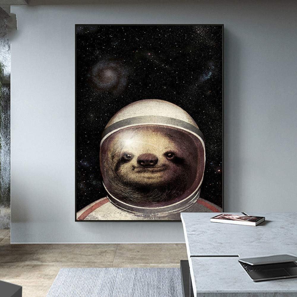 SLQUIET Astronauta Planeta Espacio Globo Lienzo impresión ...
