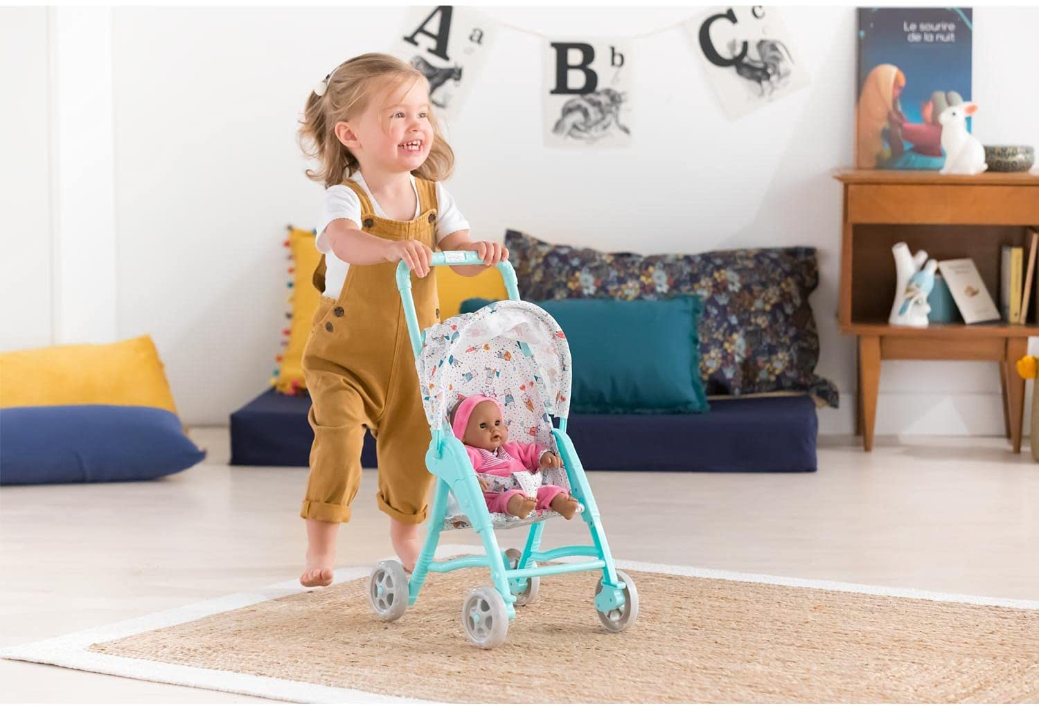 Corolle fits 12 Dolls with Folding Canopy Mon Premier Poupon Baby Doll Stroller