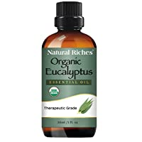 Natural Riches USDA Organic Certified Eucalyptus Essential Oil –Helps Relief Sinus...