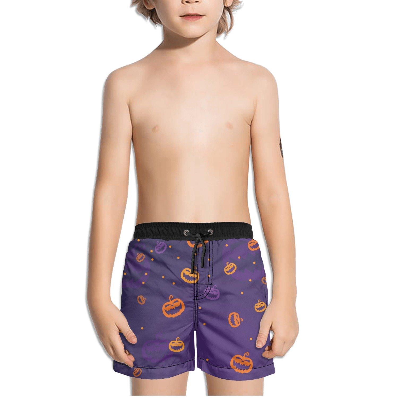 Ouxioaz Boys Swim Trunk Cute Pumpkin Smile Beach Board Shorts