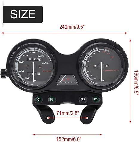 Duokon Motorrad Kilometerzähler Tachometer Dc 12v Motorrad Kilometerzähler Motorrad 12000rpm Lcd Kilometerzähler Für Ybr 125 Auto